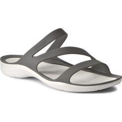 Klapki CROCS - Swiftwater Sandal W 203998 Smoke/White. Szare klapki damskie Crocs, z materiału. W wyprzedaży za 139.00 zł.