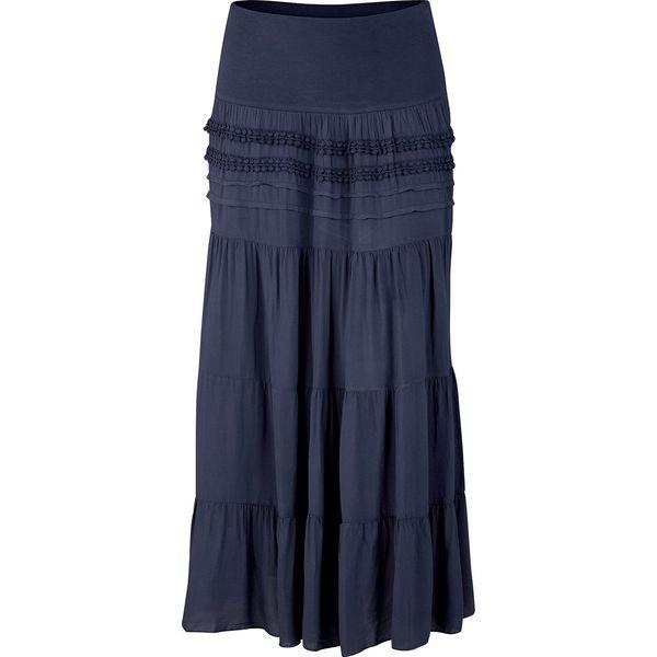 2e71e041 Długa spódnica bonprix ciemnoniebieski