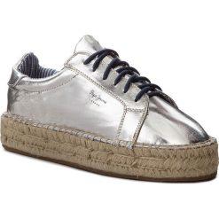 Espadryle PEPE JEANS - Andy Metal PLS10357  Silver 934. Szare espadryle damskie Pepe Jeans, z jeansu. W wyprzedaży za 179.00 zł.