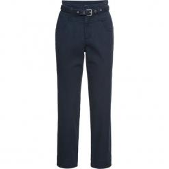 Spodnie z paskiem bonprix ciemnoniebieski. Niebieskie spodnie materiałowe damskie bonprix. Za 129.99 zł.