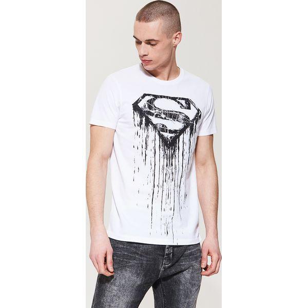 0d0910654c9920 T-shirt z nadrukiem superman - Biały - T-shirty męskie House, z ...