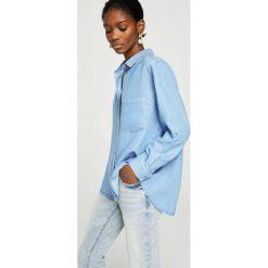 Mango - Koszula Classic. Szare koszule damskie Mango, z jeansu, klasyczne, z klasycznym kołnierzykiem, z długim rękawem. Za 139.90 zł.