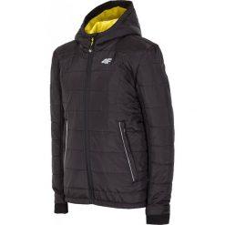 Kurtka puchowa dla dużych chłopców JKUM205Z - czarny matowy. Czarne kurtki i płaszcze dla chłopców 4F JUNIOR, na jesień, z dzianiny. W wyprzedaży za 169.99 zł.