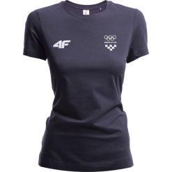 Koszulka damska Chorwacja Pyeongchang 2018 TSD750 - grafit. Białe bluzki damskie 4f, z napisami, z bawełny, z dekoltem na plecach. W wyprzedaży za 69.99 zł.