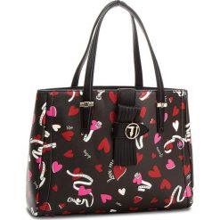 Torebka TRUSSARDI JEANS - Curry 75B00556 K501. Czarne torebki do ręki damskie TRUSSARDI JEANS, z jeansu. W wyprzedaży za 479.00 zł.