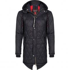 Płaszcz zimowy w kolorze czarnym. Czarne płaszcze męskie Giorgio di Mare, na zimę, z materiału. W wyprzedaży za 347.95 zł.