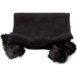 Szal TWINSET - Sciarpa AA7P3C Nero 00006. Czarne szaliki i chusty damskie Twinset, z bawełny. W wyprzedaży za 259.00 zł.