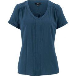 Tunika koszulowa, krótki rękaw bonprix ciemnoniebieski. Tuniki damskie marki bonprix. Za 27.99 zł.