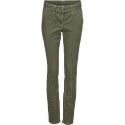 """Spodnie bonprix oliwkowy """"used"""". Zielone spodnie materiałowe damskie bonprix. Za 79.99 zł."""