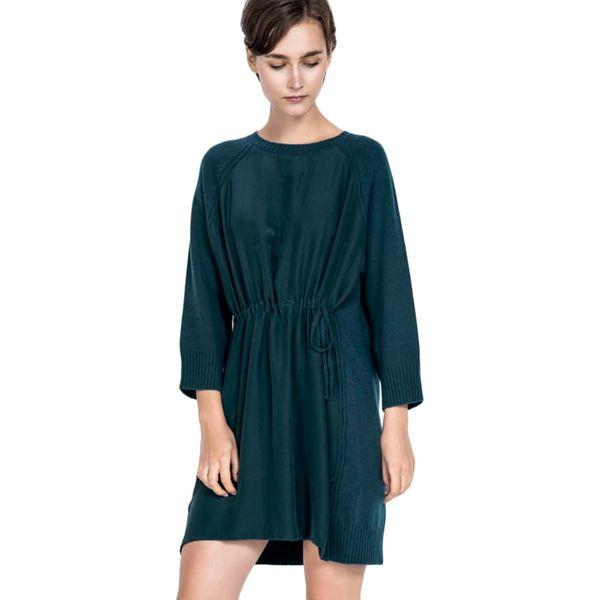 3e5ba07330 Sukienka w kolorze morskim - Niebieskie sukienki damskie marki Deni ...