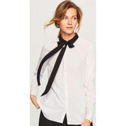 Koszula z wiązaniem przy kołnierzu - Kremowy. Białe koszule damskie Reserved. Za 69.99 zł.