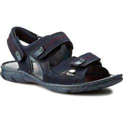 Sandały KRISBUT - 1099-2-1 Granat. Niebieskie sandały męskie Krisbut, z materiału. W wyprzedaży za 169.00 zł.