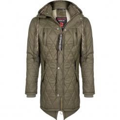 Płaszcz zimowy w kolorze khaki. Brązowe płaszcze męskie Giorgio di Mare, na zimę, z materiału. W wyprzedaży za 347.95 zł.
