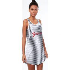 Etam - Koszula nocna Java. Szare koszule nocne damskie Etam, z bawełny. W wyprzedaży za 69.90 zł.