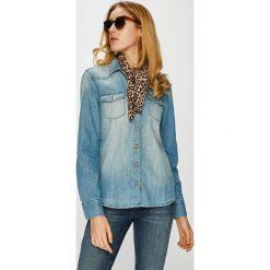Mustang - Koszula. Niebieskie koszule damskie Mustang, z długim rękawem. W wyprzedaży za 239.90 zł.