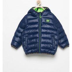 Pikowana kurtka z kapturem - Granatowy. Niebieskie kurtki i płaszcze dla chłopców Reserved. Za 349.99 zł.