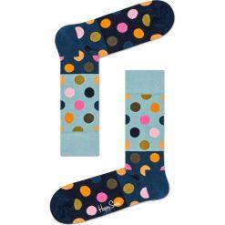 Happy Socks - Skarpetki Big Dot Block. Szare skarpety damskie Happy Socks, z bawełny. W wyprzedaży za 29.90 zł.