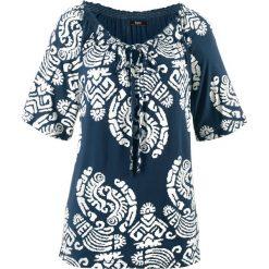 Tunika shirtowa, krótki rękaw bonprix ciemnoniebieski. Niebieskie tuniki damskie bonprix, z krótkim rękawem. Za 54.99 zł.