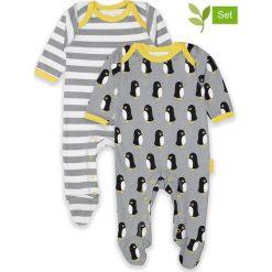Śpioszki (2 pary) w kolorze szaro-białym. Śpioszki niemowlęce marki Toby Tiger. W wyprzedaży za 129.95 zł.
