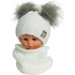 Czapka dziecięca z kominkiem CZ+K 173F biało-szara r. 48-50. Czapki dla dzieci marki Reserved. Za 62.96 zł.