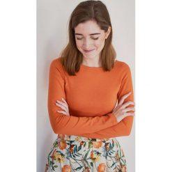 Bluzka Eunika ceglasta długi rękaw XXS pomarańczowy. Bluzki z długim rękawem męskie marki Marie Zélie. W wyprzedaży za 43.50 zł.