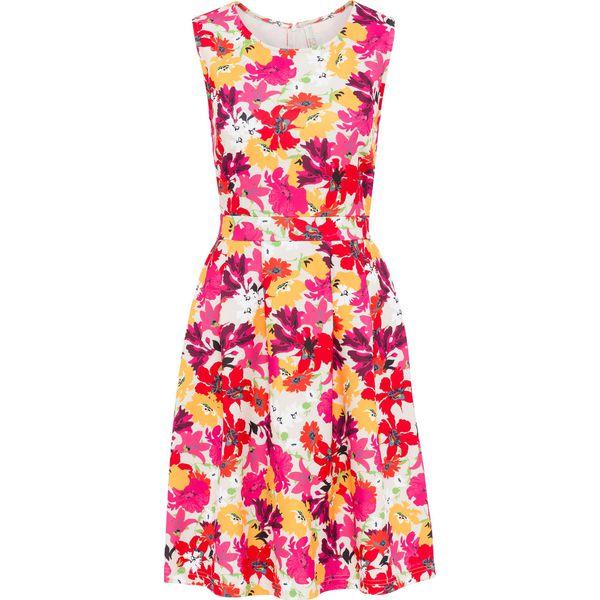 e1de69b9ed Sukienka w kwiatowy deseń bonprix piaskowy w kwiaty - Sukienki ...