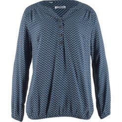 Tunika z długim rękawem bonprix indygo wzorzysty. Niebieskie tuniki damskie bonprix, z długim rękawem. Za 74.99 zł.