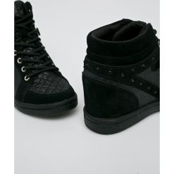 Versace Jeans - Buty. Czarne obuwie sportowe damskie Versace Jeans, z jeansu. Za 799.90 zł.
