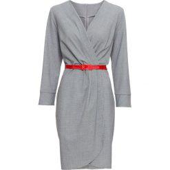 Sukienka bonprix czarno-biały wzorzysty. Czarne sukienki damskie bonprix, z tkaniny, z kopertowym dekoltem. Za 109.99 zł.