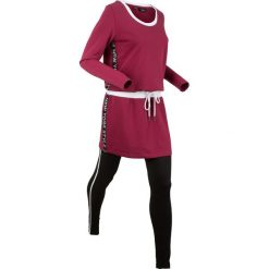 Długa bluza z legginsami sportowymi (kompl. 2-częściowy) bonprix czerwony rododendron. Bluzy damskie marki KALENJI. Za 109.99 zł.