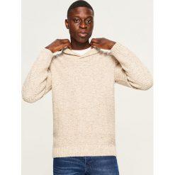 Sweter - Beżowy. Brązowe swetry przez głowę męskie Reserved. Za 159.99 zł.