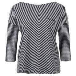 S.Oliver T-Shirt Damski 40 Czarny. Czarne t-shirty damskie S.Oliver, w paski. W wyprzedaży za 99.00 zł.