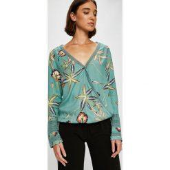 Roxy - Bluzka. Szare bluzki damskie Roxy, z bawełny, casualowe. W wyprzedaży za 199.90 zł.