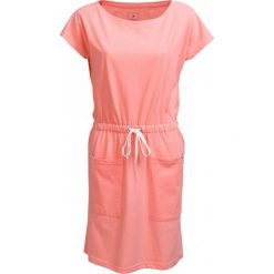 Sukienka  SUDD600 - łososiowy melanż - Outhorn. Czerwone sukienki damskie Outhorn, na lato, melanż, z bawełny, sportowe. W wyprzedaży za 54.99 zł.