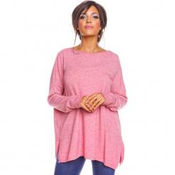 """Sweter """"Kymie"""" w kolorze jasnoróżowym. Czerwone swetry damskie So Cachemire, z kaszmiru, z okrągłym kołnierzem. W wyprzedaży za 173.95 zł."""
