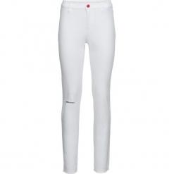 Spodnie z rozcięciem bonprix biały. Białe spodnie materiałowe damskie bonprix. Za 99.99 zł.