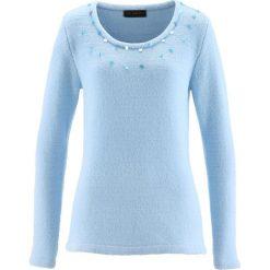 Sweter bonprix lodowy niebieski. Swetry damskie marki bonprix. Za 49.99 zł.