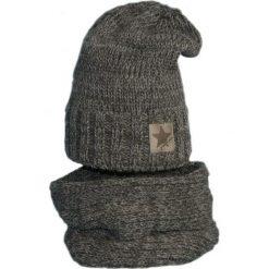 Czapka z kominkiem ocieplana Cz+K 156C. Czarne czapki dla dzieci Proman. Za 58.80 zł.