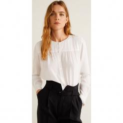 Mango - Bluzka Doty. Szare bluzki damskie Mango, z tkaniny, eleganckie, z okrągłym kołnierzem. Za 119.90 zł.