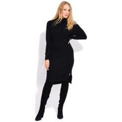 Fille Du Couturier Sukienka Damska Avril 44 Czarny. Czarne sukienki damskie Fille Du Couturier, z materiału, z długim rękawem. W wyprzedaży za 299.00 zł.