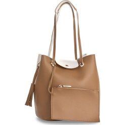 Torebka MONNARI - BAGA610-015 Beige. Brązowe torebki do ręki damskie Monnari, ze skóry ekologicznej. W wyprzedaży za 129.00 zł.