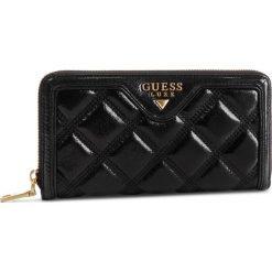 Duży Portfel Damski GUESS - SWSASH L9146 BLA. Czarne portfele damskie Guess, z aplikacjami, ze skóry. Za 519.00 zł.