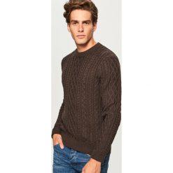 Sweter - Bordowy. Czerwone swetry przez głowę męskie Reserved. Za 139.99 zł.