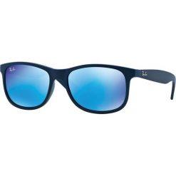 Ray-Ban - Okulary Andy. Brązowe okulary przeciwsłoneczne męskie Ray-Ban, z materiału. Za 499.90 zł.