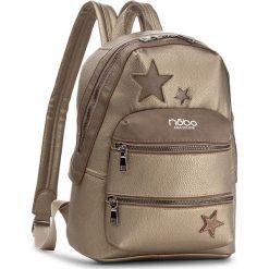 Plecak NOBO - NBAG-D4040-C023 Złoty. Żółte plecaki damskie Nobo, ze skóry ekologicznej. W wyprzedaży za 139.00 zł.
