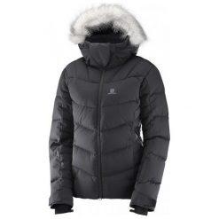 Salomon Icetown Jkt W Black Heather S. Brązowe kurtki sportowe damskie Salomon, na zimę, z materiału. W wyprzedaży za 1,149.00 zł.