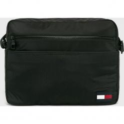 Tommy Hilfiger - Torba. Czarne torby na laptopa męskie Tommy Hilfiger, w paski, z materiału. Za 449.90 zł.