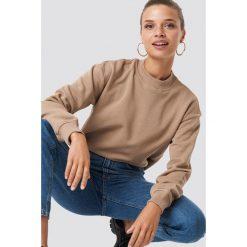 NA-KD Basic Bluza basic - Brown. Brązowe bluzy damskie NA-KD Basic, prążkowane. Za 100.95 zł.
