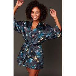 Etam - Kombinezon piżamowy 650124205. Czarne piżamy damskie Etam, z dzianiny. W wyprzedaży za 159.90 zł.