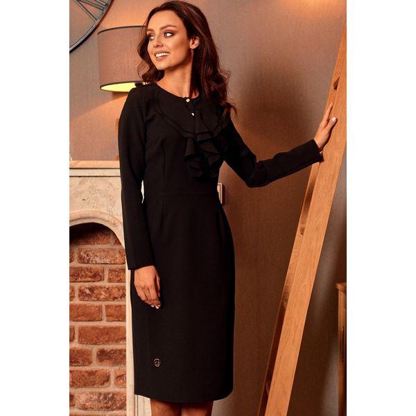 6ff607349f Sukienka z żabotem l270 - Czarne sukienki damskie marki Lemoniade ...